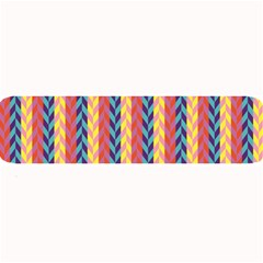 Colorful Chevron Retro Pattern Large Bar Mats by DanaeStudio