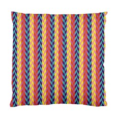 Colorful Chevron Retro Pattern Standard Cushion Case (one Side) by DanaeStudio
