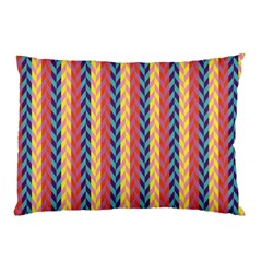 Colorful Chevron Retro Pattern Pillow Case by DanaeStudio