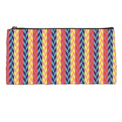 Colorful Chevron Retro Pattern Pencil Cases by DanaeStudio