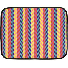 Colorful Chevron Retro Pattern Double Sided Fleece Blanket (mini)  by DanaeStudio