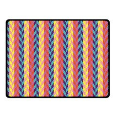 Colorful Chevron Retro Pattern Fleece Blanket (small) by DanaeStudio