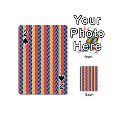 Colorful Chevron Retro Pattern Playing Cards 54 (mini)  by DanaeStudio