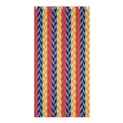 Colorful Chevron Retro Pattern Shower Curtain 36  X 72  (stall)  by DanaeStudio