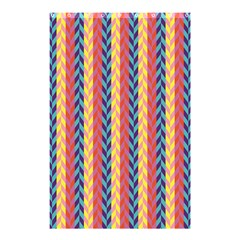 Colorful Chevron Retro Pattern Shower Curtain 48  X 72  (small)  by DanaeStudio