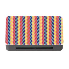 Colorful Chevron Retro Pattern Memory Card Reader With Cf by DanaeStudio