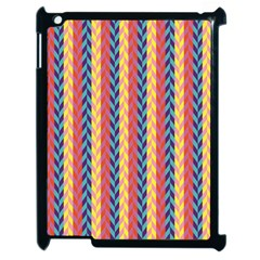 Colorful Chevron Retro Pattern Apple Ipad 2 Case (black) by DanaeStudio