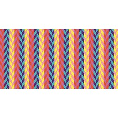 Colorful Chevron Retro Pattern You Are Invited 3d Greeting Card (8x4) by DanaeStudio