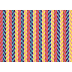 Colorful Chevron Retro Pattern Birthday Cake 3d Greeting Card (7x5) by DanaeStudio