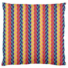 Colorful Chevron Retro Pattern Large Cushion Case (one Side) by DanaeStudio