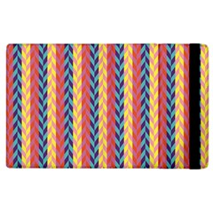 Colorful Chevron Retro Pattern Apple Ipad 2 Flip Case by DanaeStudio