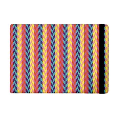 Colorful Chevron Retro Pattern Apple Ipad Mini Flip Case by DanaeStudio