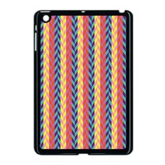 Colorful Chevron Retro Pattern Apple Ipad Mini Case (black) by DanaeStudio