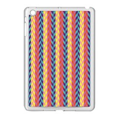 Colorful Chevron Retro Pattern Apple Ipad Mini Case (white) by DanaeStudio