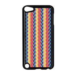 Colorful Chevron Retro Pattern Apple Ipod Touch 5 Case (black) by DanaeStudio