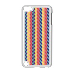 Colorful Chevron Retro Pattern Apple Ipod Touch 5 Case (white) by DanaeStudio