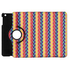 Colorful Chevron Retro Pattern Apple Ipad Mini Flip 360 Case by DanaeStudio