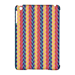 Colorful Chevron Retro Pattern Apple Ipad Mini Hardshell Case (compatible With Smart Cover) by DanaeStudio