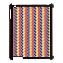 Colorful Chevron Retro Pattern Apple Ipad 3/4 Case (black) by DanaeStudio