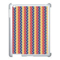 Colorful Chevron Retro Pattern Apple Ipad 3/4 Case (white) by DanaeStudio