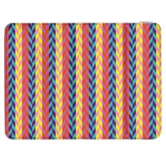 Colorful Chevron Retro Pattern Samsung Galaxy Tab 7  P1000 Flip Case by DanaeStudio