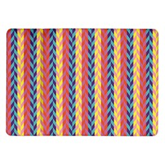Colorful Chevron Retro Pattern Samsung Galaxy Tab 10 1  P7500 Flip Case by DanaeStudio
