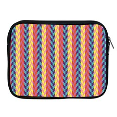 Colorful Chevron Retro Pattern Apple Ipad 2/3/4 Zipper Cases by DanaeStudio