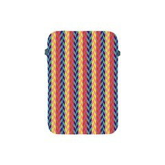 Colorful Chevron Retro Pattern Apple Ipad Mini Protective Soft Cases by DanaeStudio