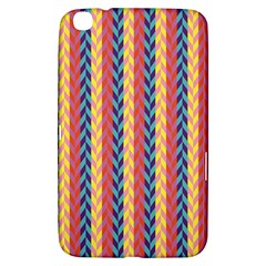 Colorful Chevron Retro Pattern Samsung Galaxy Tab 3 (8 ) T3100 Hardshell Case  by DanaeStudio