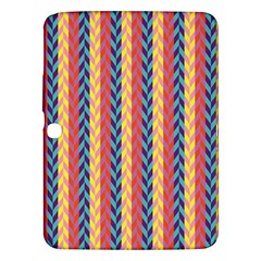 Colorful Chevron Retro Pattern Samsung Galaxy Tab 3 (10 1 ) P5200 Hardshell Case  by DanaeStudio