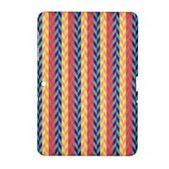Colorful Chevron Retro Pattern Samsung Galaxy Tab 2 (10 1 ) P5100 Hardshell Case  by DanaeStudio