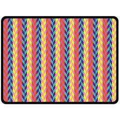 Colorful Chevron Retro Pattern Double Sided Fleece Blanket (large)  by DanaeStudio