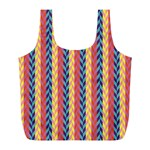 Colorful Chevron Retro Pattern Full Print Recycle Bags (L)  Front
