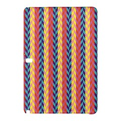 Colorful Chevron Retro Pattern Samsung Galaxy Tab Pro 10 1 Hardshell Case by DanaeStudio