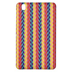 Colorful Chevron Retro Pattern Samsung Galaxy Tab Pro 8 4 Hardshell Case by DanaeStudio