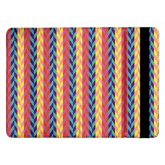 Colorful Chevron Retro Pattern Samsung Galaxy Tab Pro 12 2  Flip Case by DanaeStudio