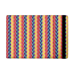 Colorful Chevron Retro Pattern Ipad Mini 2 Flip Cases by DanaeStudio