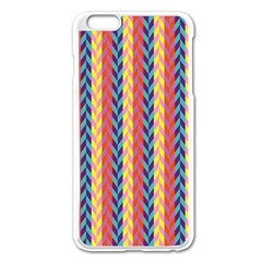 Colorful Chevron Retro Pattern Apple Iphone 6 Plus/6s Plus Enamel White Case