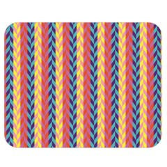 Colorful Chevron Retro Pattern Double Sided Flano Blanket (medium)