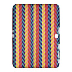 Colorful Chevron Retro Pattern Samsung Galaxy Tab 4 (10 1 ) Hardshell Case  by DanaeStudio
