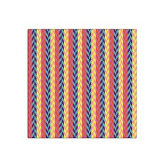 Colorful Chevron Retro Pattern Satin Bandana Scarf