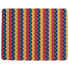 Colorful Chevron Retro Pattern Jigsaw Puzzle Photo Stand (rectangular)