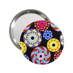Colorful Retro Circular Pattern 2 25  Handbag Mirrors by DanaeStudio