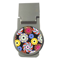 Colorful Retro Circular Pattern Money Clips (Round)