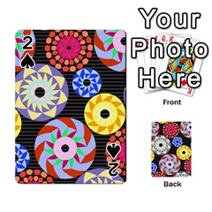 Colorful Retro Circular Pattern Playing Cards 54 Designs