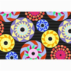 Colorful Retro Circular Pattern Collage Prints