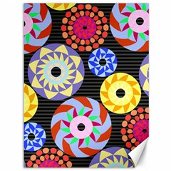 Colorful Retro Circular Pattern Canvas 36  X 48   by DanaeStudio