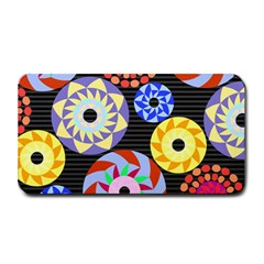 Colorful Retro Circular Pattern Medium Bar Mats by DanaeStudio