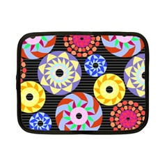 Colorful Retro Circular Pattern Netbook Case (Small)
