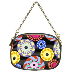 Colorful Retro Circular Pattern Chain Purses (One Side)